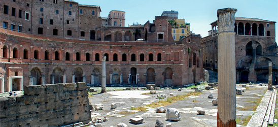 The Trajan's Markets in Rome
