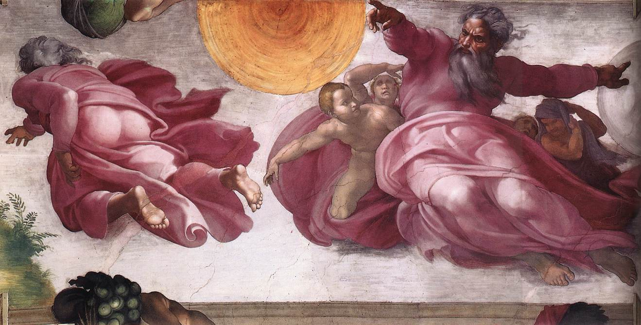 Michelangelo Creation of the Sun Moon and Plants 01